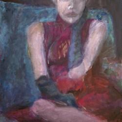 Frau in Rot, 60 x 40 cm, 2012