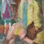 Frau mit Tasche, 70 x 50 cm, Vinyl auf Leinwand 2013