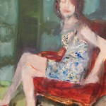 Mädchen im Sessel, 40 x 30 cm, Öl auf Leinwand 2011