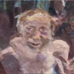 Golem, 40 x 60 cm, Eitempera auf Leinwand 2014