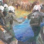 Demo, 30 x 50 cm, Acryl, 2008